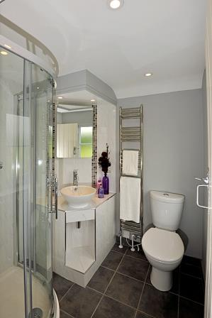 En-suite converted from a small box room