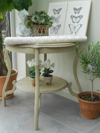 Victorian Shabby Chic Occasional Table For Sale