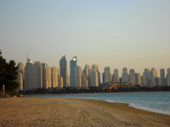 Dubai skyline from the Palm Jumeirah