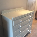 Up-cycled and re-purposed baby change table