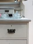 Light Grey up-cycled Edwardian dressing table detail.