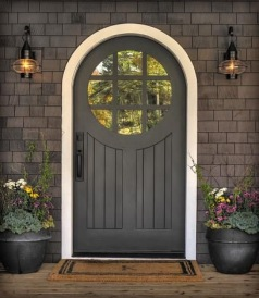 Attractive front door display