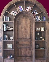 An unusual and attractive way to store and display books and ornaments