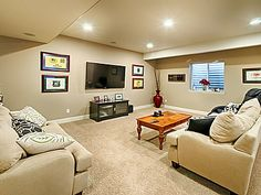Create extra living space in the basement