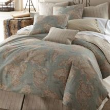 Calming map bedding from neimanmarcus.com