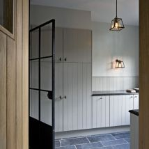 A utilitarian, calm utility room