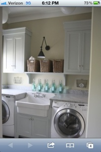 Place the sink between the appliances