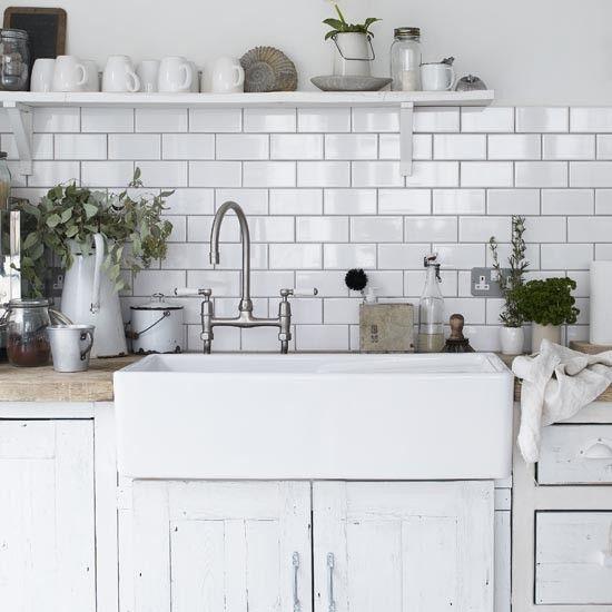 Utility Sink Tiles and tap Sarah Maidment Interiors