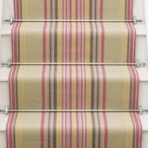 Stair runner reminiscent of a deck chair.Roger Oates