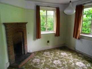 Before - The original 1930's dining room