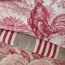 A selection of red French linens from ebay