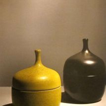 Yellow glazed pots