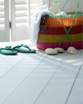 Use floor paint to lighten your floor