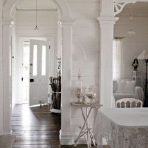 A peaceful white interior