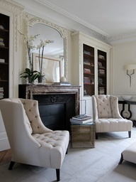 A traditional sitting room using white