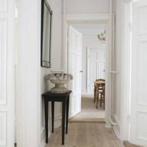 'Limed White' wooden flooring.