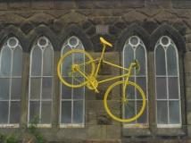 Yellow painted bicycles in Yorkshire - sminteriors