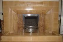 Traditional 1930's tiled fireplace