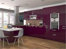 High Gloss Colour Kitchen