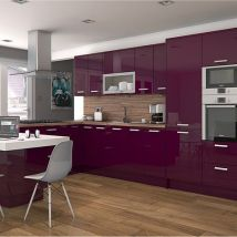 High Gloss Colour Kitchen