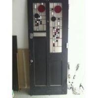 Interesting Art Deco design front door