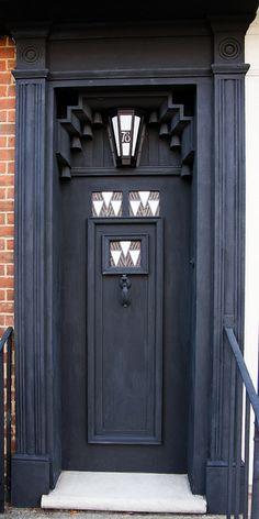A door designed by Charles Rene Mackintosh