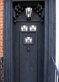 A door designed by Charles Rene Mackintosh