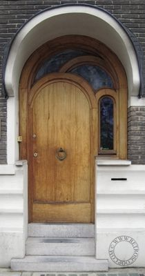 Imaginatively designed entrance door