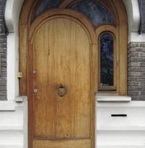 Imaginatively designed entrance door