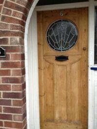A beautifully restored original 1930's front door.