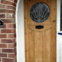 A beautifully restored original 1930's front door.