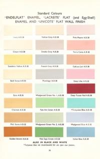 An original 1930's paint chart
