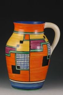 Jug designed by Clarice Cliff