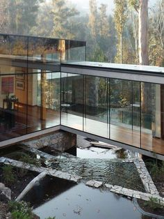 Glass house with stunning views