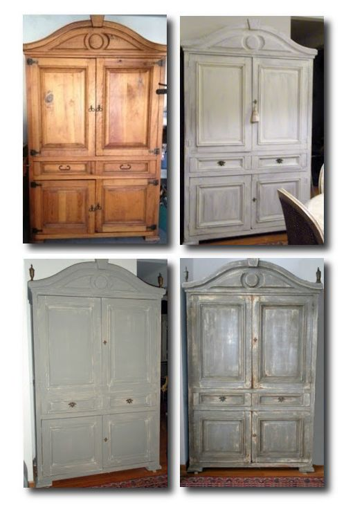 A painted Gustavian finished cupboard from Pinterest