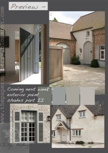Exterior mood board from papermulberry.blogspot.co.uk