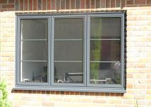 Window detail in a light grey RAL. From CWG Choices
