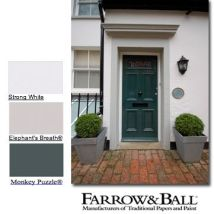 An exterior mood board from Farrow and Ball