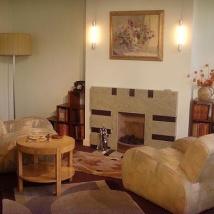 A modern 'Deco' 1930's living room as seen in the Geffrye Museum