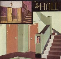 A before and after of 1930's examples of a hall. Most people seem to like the 'before' better!