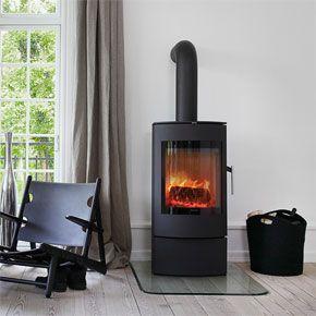 A modern stove create a modern country vibe
