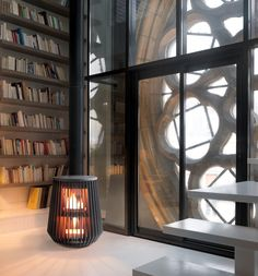 Modern stove gives an industrial edge.