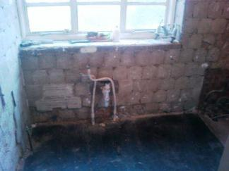 Bathroom now stripped out