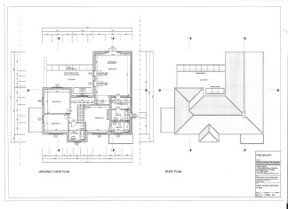 First floor plans of a four bedroom house