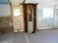 The fixtures, fittings, walls and chimney have been removed.