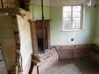 Dining room prior to chimney breast removal. Unfortunately the fireplace has been built in situ and could not be saved.
