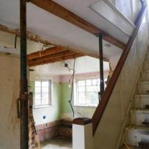 Kitchen / dining room / hall walls removed.