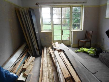 Flooring and doors stored for re-use