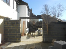 Same view on 18th Feb, with steel lintel in place