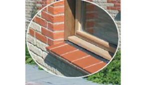 Tile creasings used foe window cills. From Marley